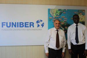 Representante da Universidade de Dakar (Senegal) visita a FUNIBER