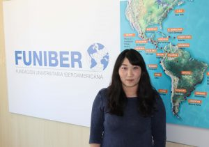 Delegada da FUNIBER na China visita a sede da Fundação na Espanha