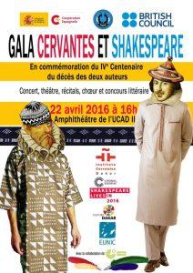 FUNIBER participará da cerimônia de gala comemorativa do IV Centenário da morte de Cervantes e Shakespeare no Senegal
