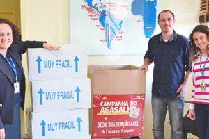 FUNIBER entrega doações arrecadadas da Campanha de Inverno 2016 no Brasil