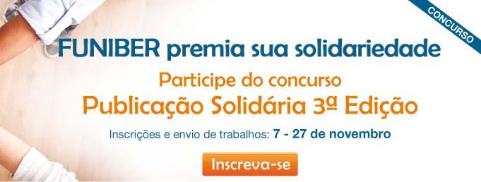 Tem início a 3ª edição do concurso Publicação Solidária da FUNIBER