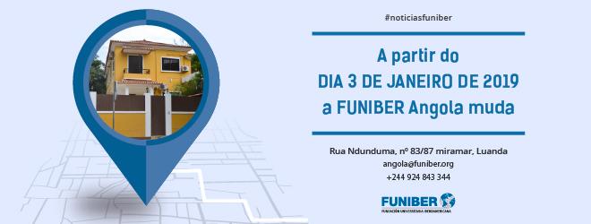 Sede da FUNIBER na Angola muda de endereço em janeiro