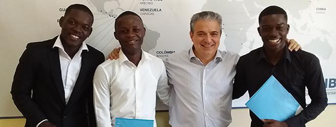 Bolsa de estudos FUNIBER aos primeiros angolanos a obter diplomas