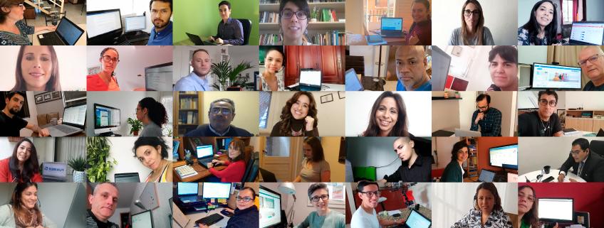 Professores da rede universitária FUNIBER acompanham os alunos por teletrabalho