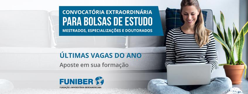 FUNIBER lança convocatória extraordinária para Bolsas de Estudo